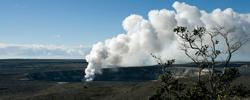 Kilauea 'Iki Crater smoking