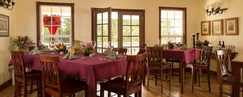 Dining Room at Kalaekilohana Inn and Retreat - Na`alehu, Hawaii
