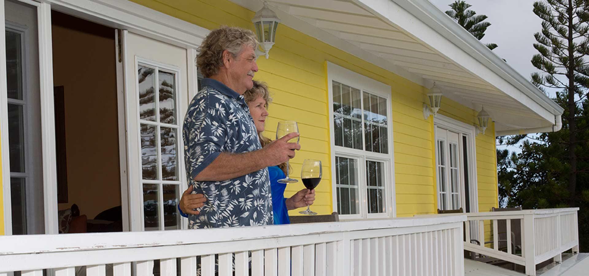 Looking out from upstairs lanai at Kalaekilohana Inn & Retreat