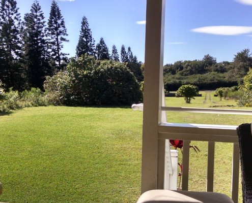 View from the lanai at Kalaekilohana Inn & Retreat