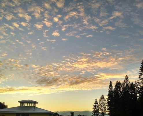 Sunrise at Kalaekilohana